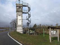 Aussicht auf die Elbe vom früheren Grenzturm in Lenzen